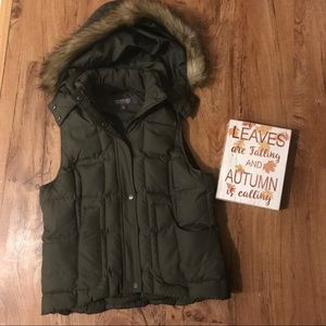 Kenneth Cole Hooded Down Vest